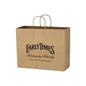 Kraft Paper Brown Shopping Bag - 16